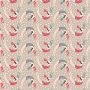 Lewis & Irene Vintage Circus - 4595 - Acrobats on Beige - A145.3 - Cotton Fabric